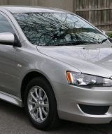 Mitsubishi Lancer sedan grey