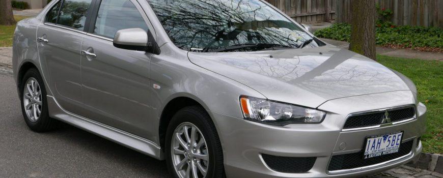 Mitsubishi Lancer sedan grey