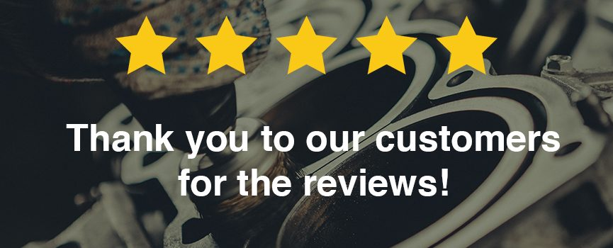 thank you customers for the 5 star reviews