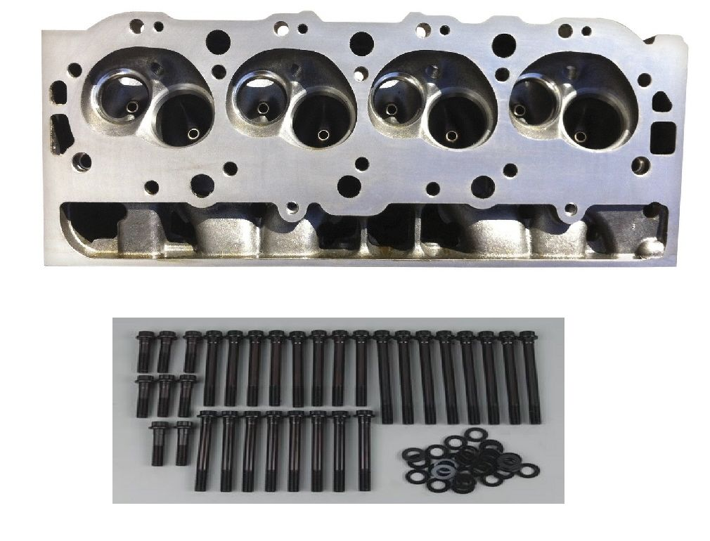 NEW EQ BBC 454 CAST IRON BARE CAST 360 119 CYLINDER HEAD & ARP BOLTS CH454B