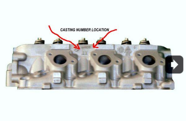 1 Chrysler Dodge Town Country Caravan Cylinder Head 3.3 3.8 OHV Cast# 510 & 015