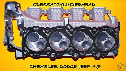1 CHRYSLER DODGE JEEP CHEROKEE DAKOTA 4.7 SOHC CYLINDER HEAD DRIVER SIDE NO EGR