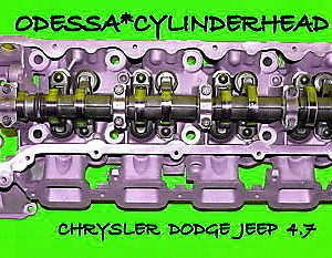 1 CHRYSLER DODGE JEEP CHEROKEE DAKOTA 4.7 SOHC CYLINDER HEAD DRIVER SIDE NO EGR